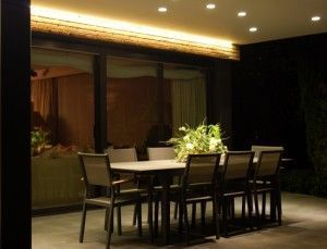 Iluminación led de un porche