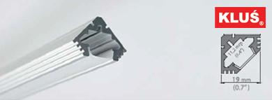 Perfil de aluminio para tiras led 45 ALU