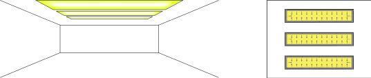 Cornisa con iluminación led indirecta.