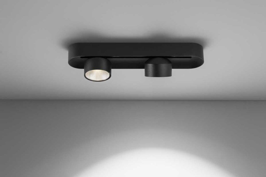 Base focos LED superficie modelo SHIFT doble