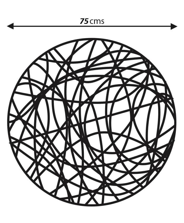 Medidas bola de mimbre led 75