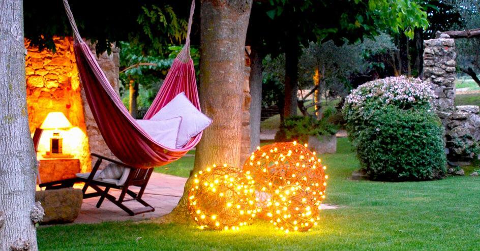 Bola LED decorativa jardin