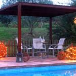 Bola LED decorativa jardin