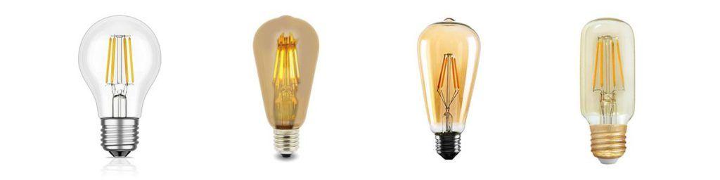 Bombillas LED de filamentio estilo vintage