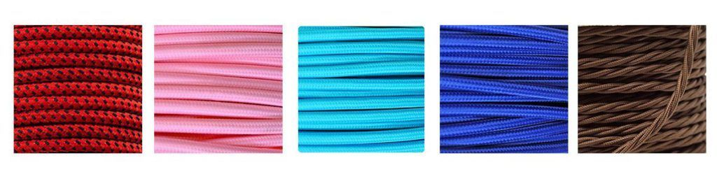 Cables textiles iluminación led