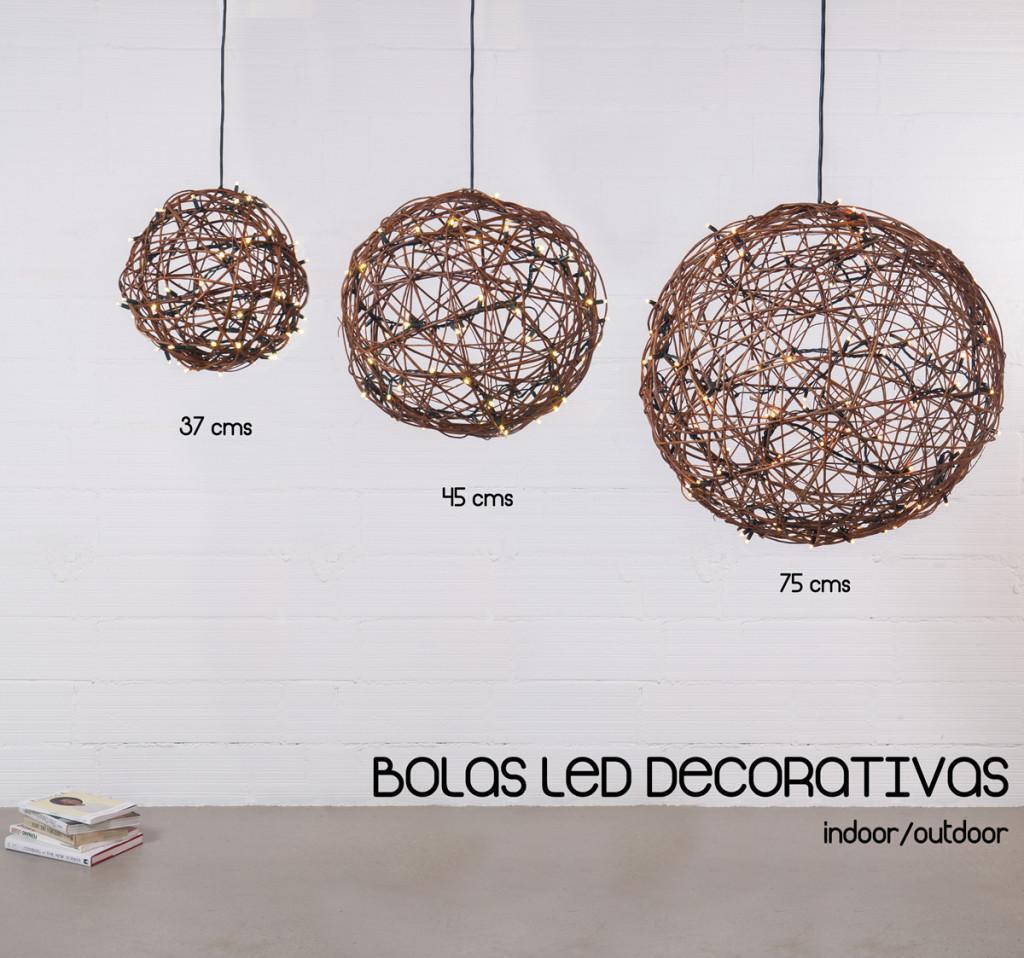 Bolas LED decorativas realizadas a mano