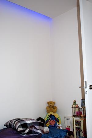 Decoración con iluminación RGB