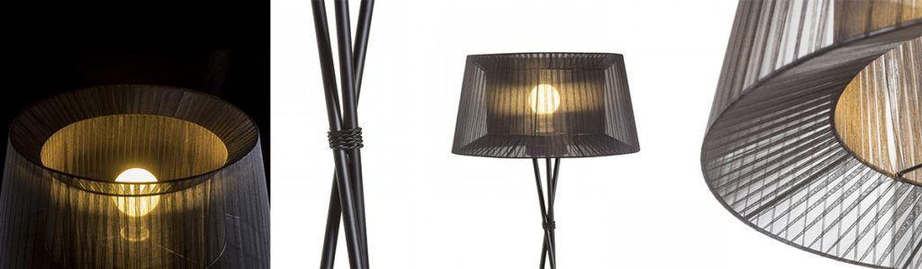 lámpara de pie de tripode boulogne