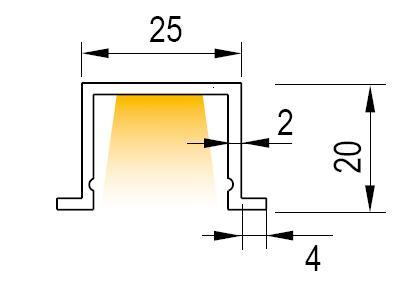 Luminaria LED lineal, modelo EB3