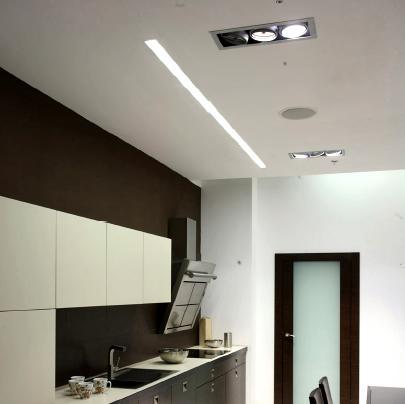 Perfil led lineal trimless empotrado modelo profilite 0 - Focos de techo sin empotrar ...