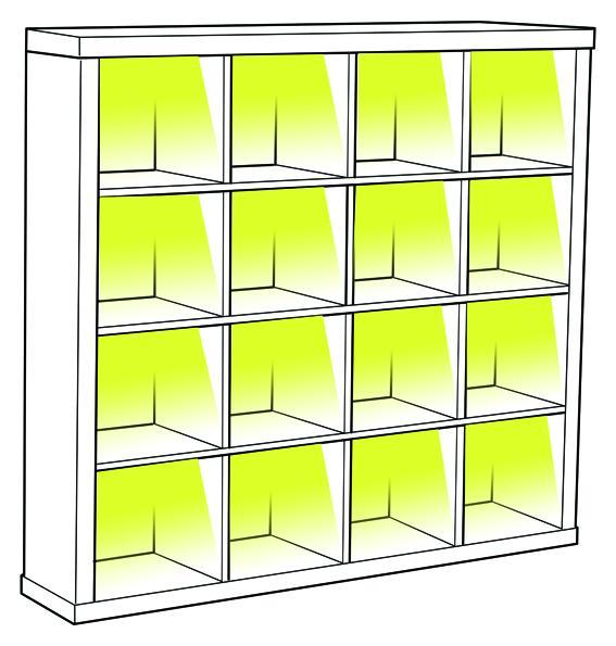 Iluminación LED estantería Expedit