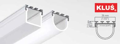 Perfil de aluminio para tiras led GIP
