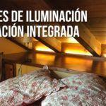 Iluminación interior. Integrar la iluminación. Iluminación indirecta.