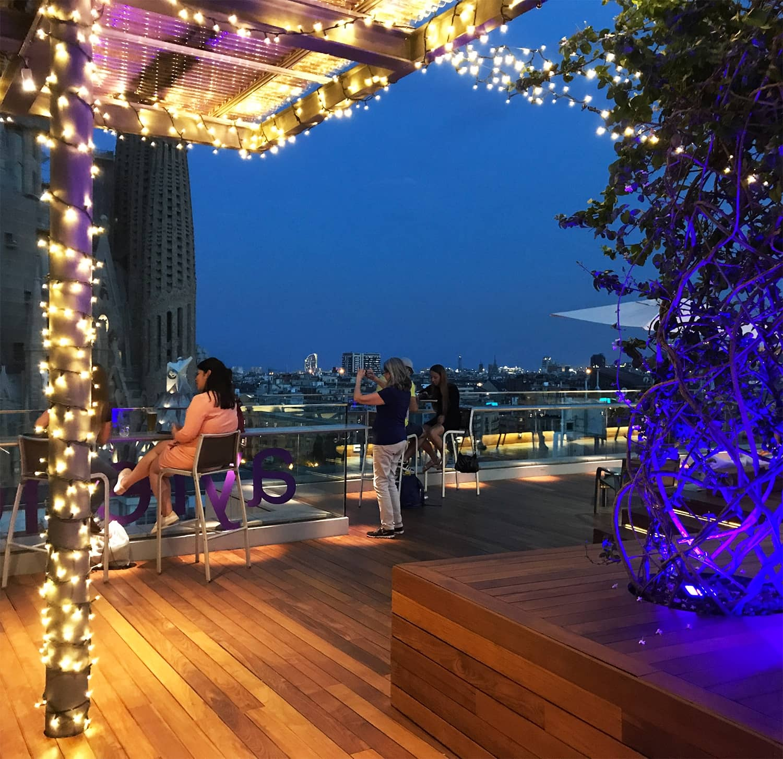 Iluminaci n terraza hotel ayre rosellon barcelona for Iluminacion terraza