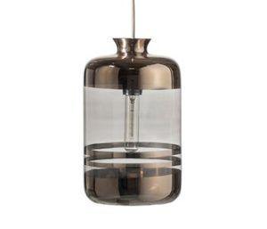 Lámpara de cristal decorativa modelo Pillar con bombilla led de filamento