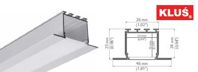 Perfil de aluminio para tiras led LARKO