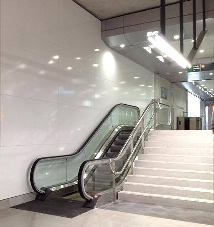 iluminación LED estación