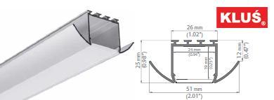 Perfil de aluminio para tiras led LESTO