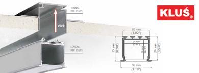 Perfil de aluminio para tiras led LOKOM