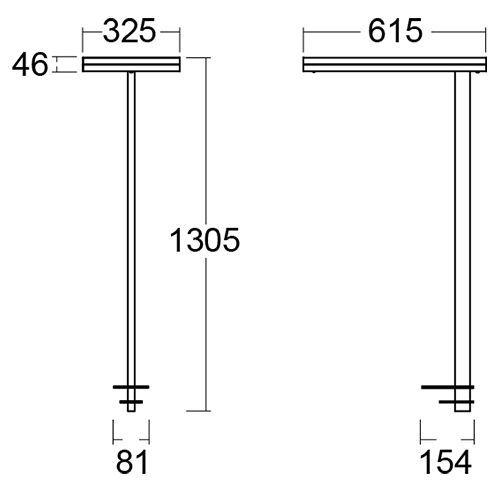 Lámpara de escritorio Leira destacado medidas