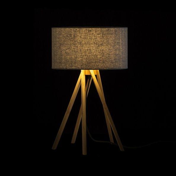 Lampara de mesa El Paso icon pantalla textil luminacion decorativa