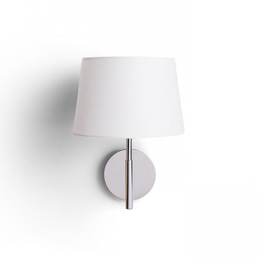 Lámpara de pared con pantalla textil