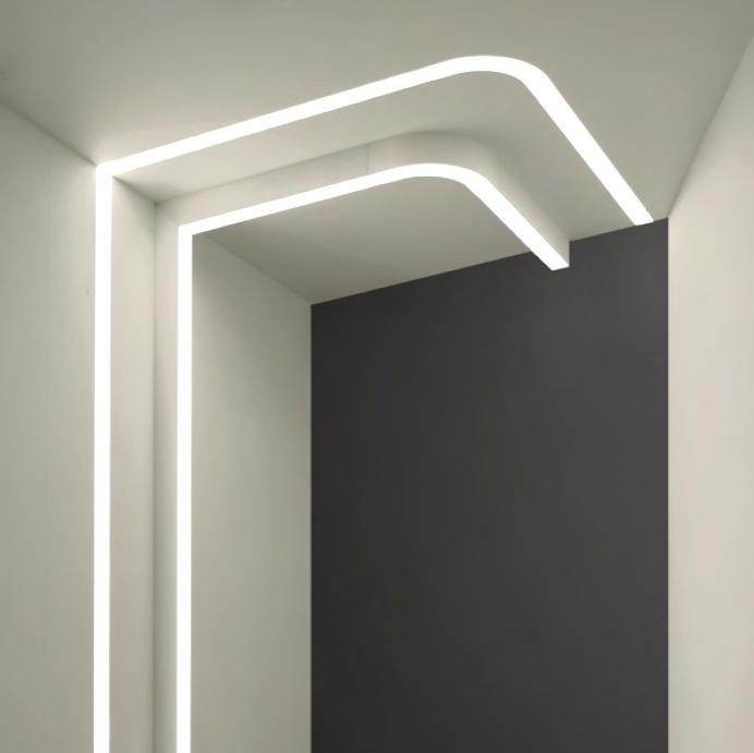 Perfil led lineal led line 60 iluminaci n interior - Cornisas para luz indirecta ...