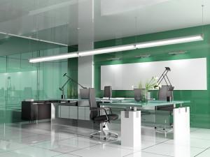 iluminación LED de oficinas