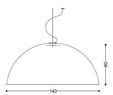 Medidas Lámpara LED Sphere Medium