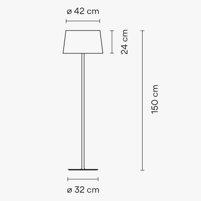 Medidas lámpara de pie WARM