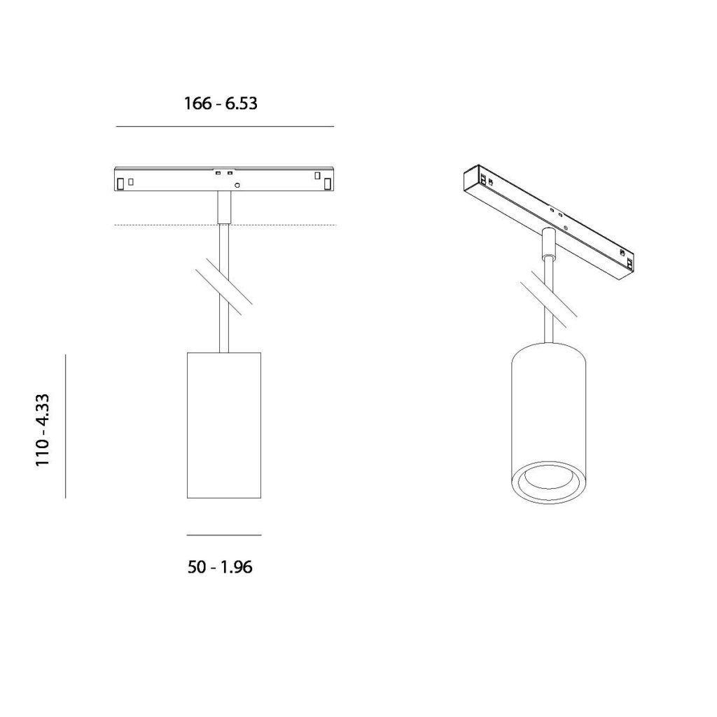 Lámpara para carril magnético