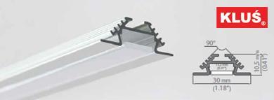 Perfil de aluminio para tiras led PAC-ALU