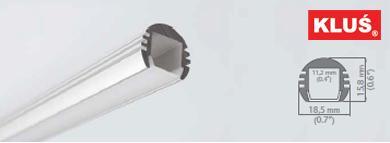 Perfil de aluminio para tiras led PDS-O