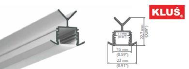 Perfil de aluminio para tiras led POR