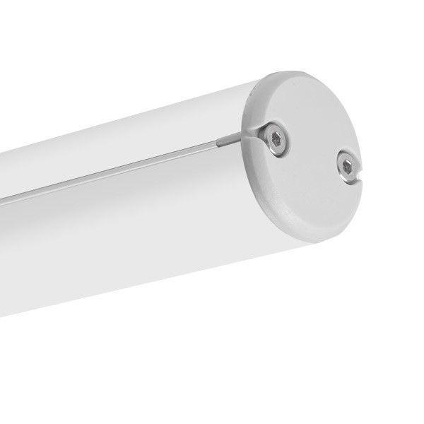 Perfil de aluminio para iluminación led lineal jaz-duo