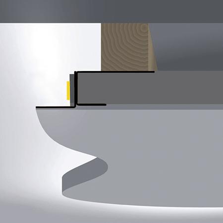 Perfil para tiras led iluminación indirecta