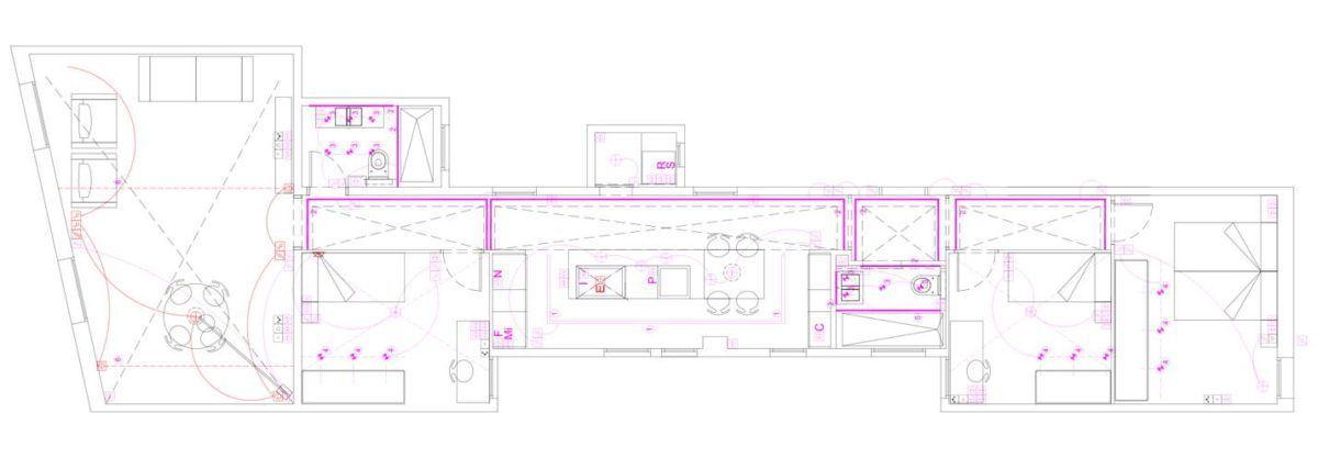 Plano de Proyecto de iluminación interior residencial