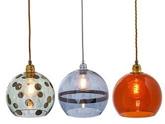 Rowan, lámpara de cristal suspendida