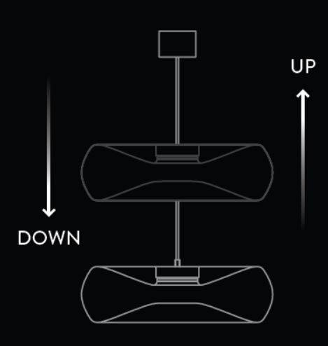 Sistema Up and Down lampara FOLD