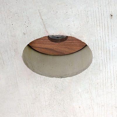 Spot led empotrado techo hormigón