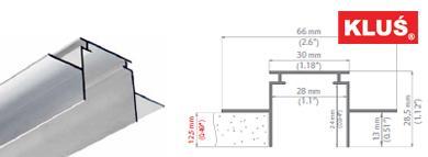 Perfil de aluminio para tiras led TEKNIK