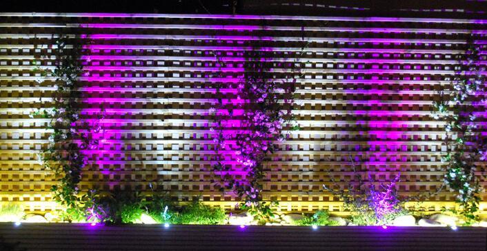 Iluminación LED RGB Terraza