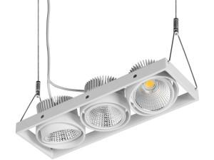 Spot led triple Zipar Trio Suspended