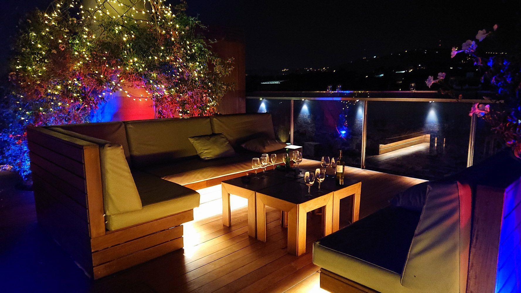 iluminación exterior hoteles