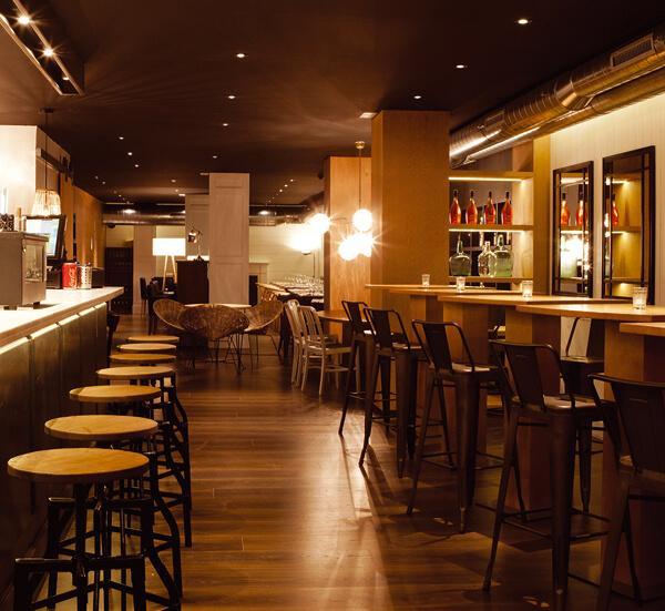 iluminación led restaurante
