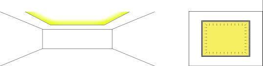 Iluminación conrisa. Iluminación indirecta