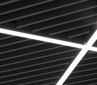 iluminación lineal perfiles empotrados