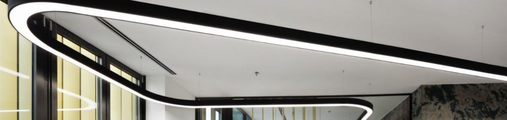 lampara led lineal curva modelo FLUMO2
