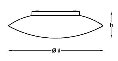 Medidas plafón mural circular UFO