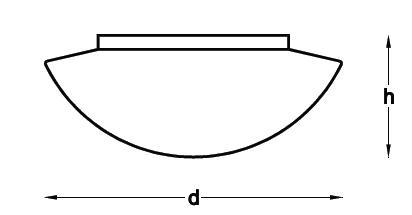 medidas plafón led mural circular VTR